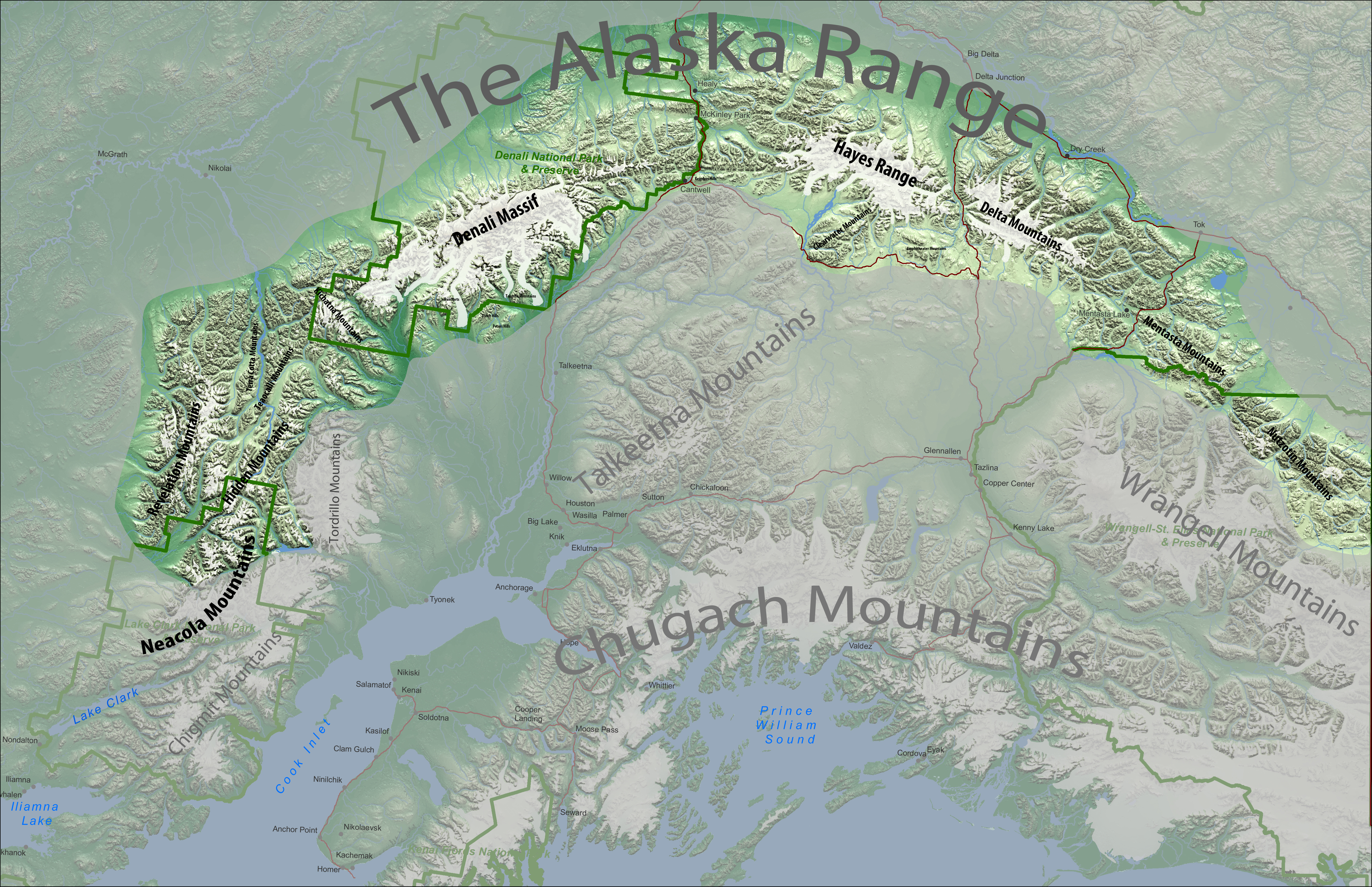 Where Is The Alaska Range The Alaska Range Project - Usgs topo maps alaska