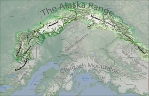 High resolution map of the Alaska Range. Feel free to download the high res file.