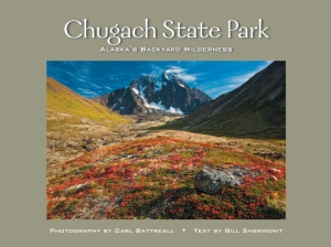 The cover of my Chugach State park book, printed bt Greatland Graphics, 2011. The cover shot would never of happened if it wasn't for a great expedition partner.