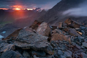 Sunset, Steamroller Pass, Chugach State Park (not in the Alaska Range)