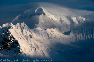Morning storm on Mount Foraker