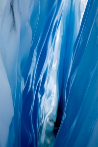 Inside a crevasse, Matanuska Glacier.