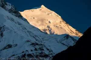 Last light on Mount Shand