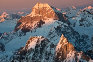 Last light on the Neacola Mountains