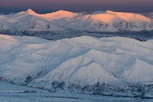Southern foothills of the central Alaska Range