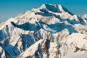 Mount Foraker and a sea of mountains, Denali National Park and Preserve