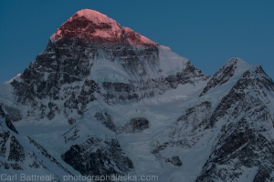 Alpenglow on Mount Deborah.