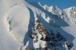 Strange hanging glacier, Hayes Range