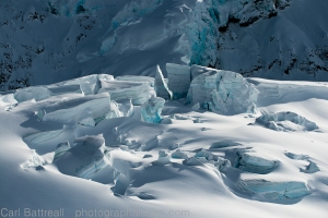 The delicate beauty of ice and shadow, Moore Icefall, Delta Mountains