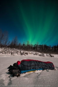 Somebody turn out the lights! Its wasn't the cold that kept us awake, it was the full moon and the aurora!