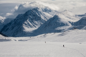 This is the terrain that sled were meant for. The Black Rapids Glacier, during a 2006 traverse.