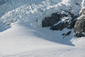Neill skiing below the Gabriel Icefall.